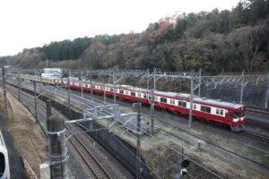 武蔵丘車両検修場信号場に到着した263Fと9103F