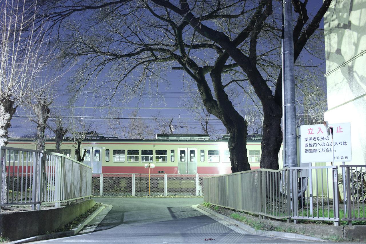 萩山の留置線に入庫した多摩湖線新101系【ラストラン前夜】