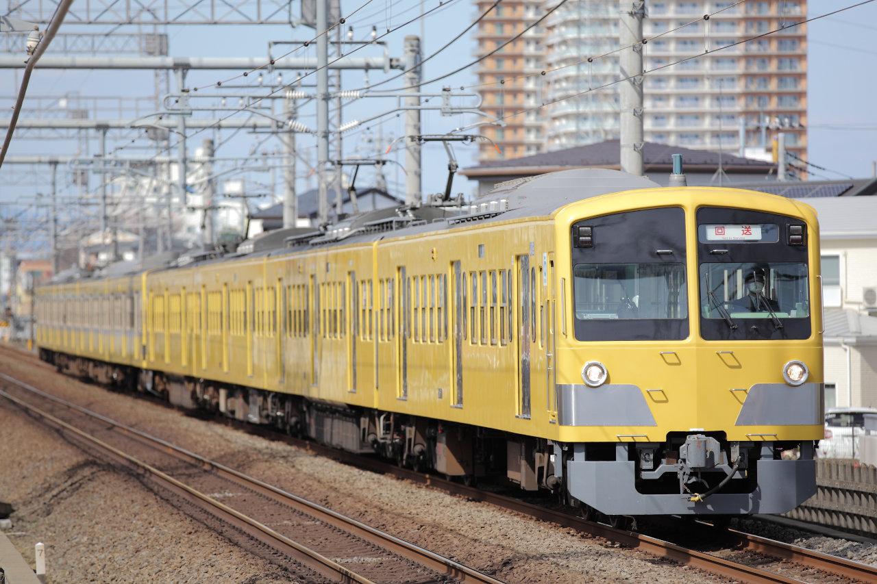 263Fにけん引される新101系245F【西武多摩川線の車両交換】