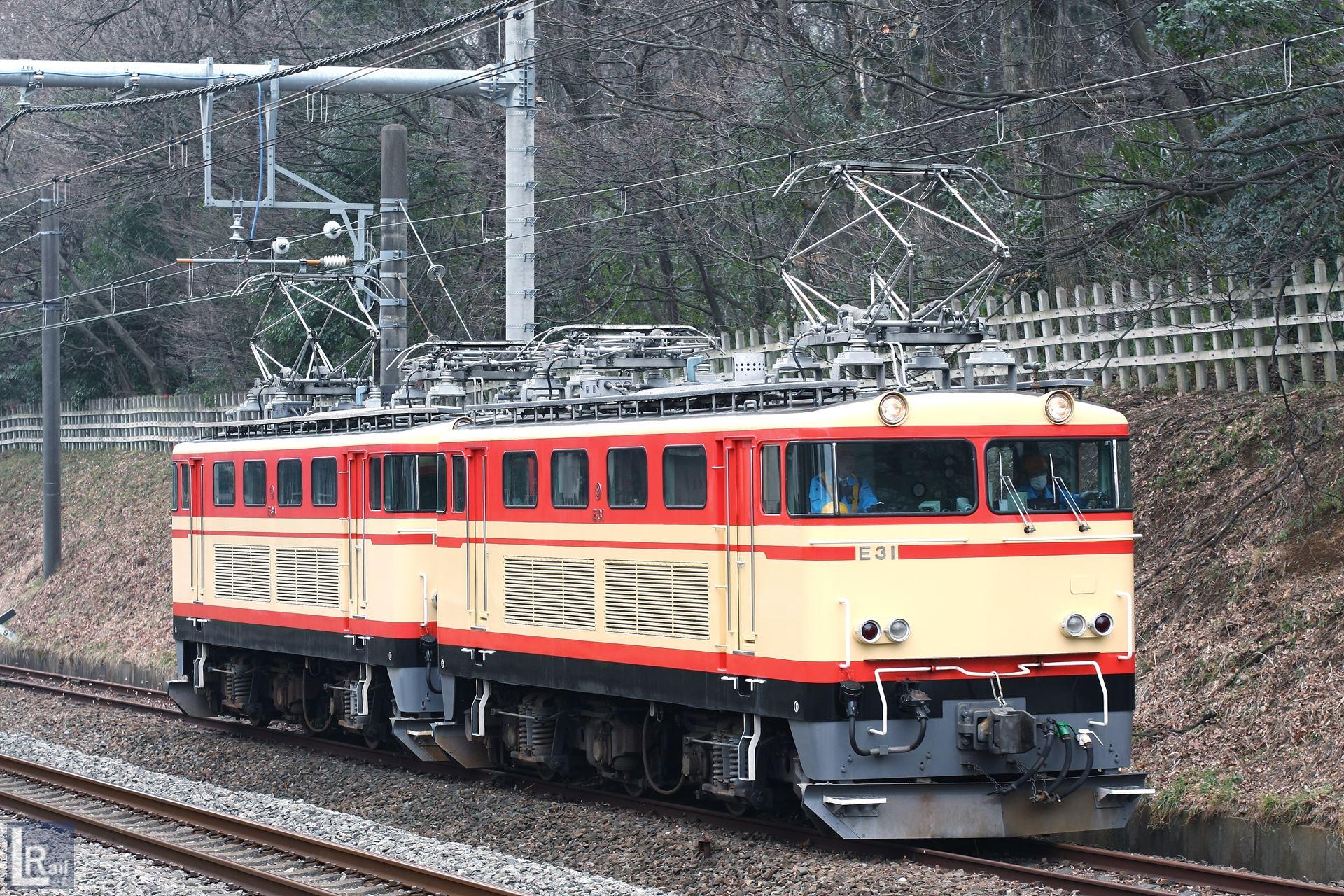 新秋津からJR連絡線を経由して武蔵丘へ返却されるE31重単